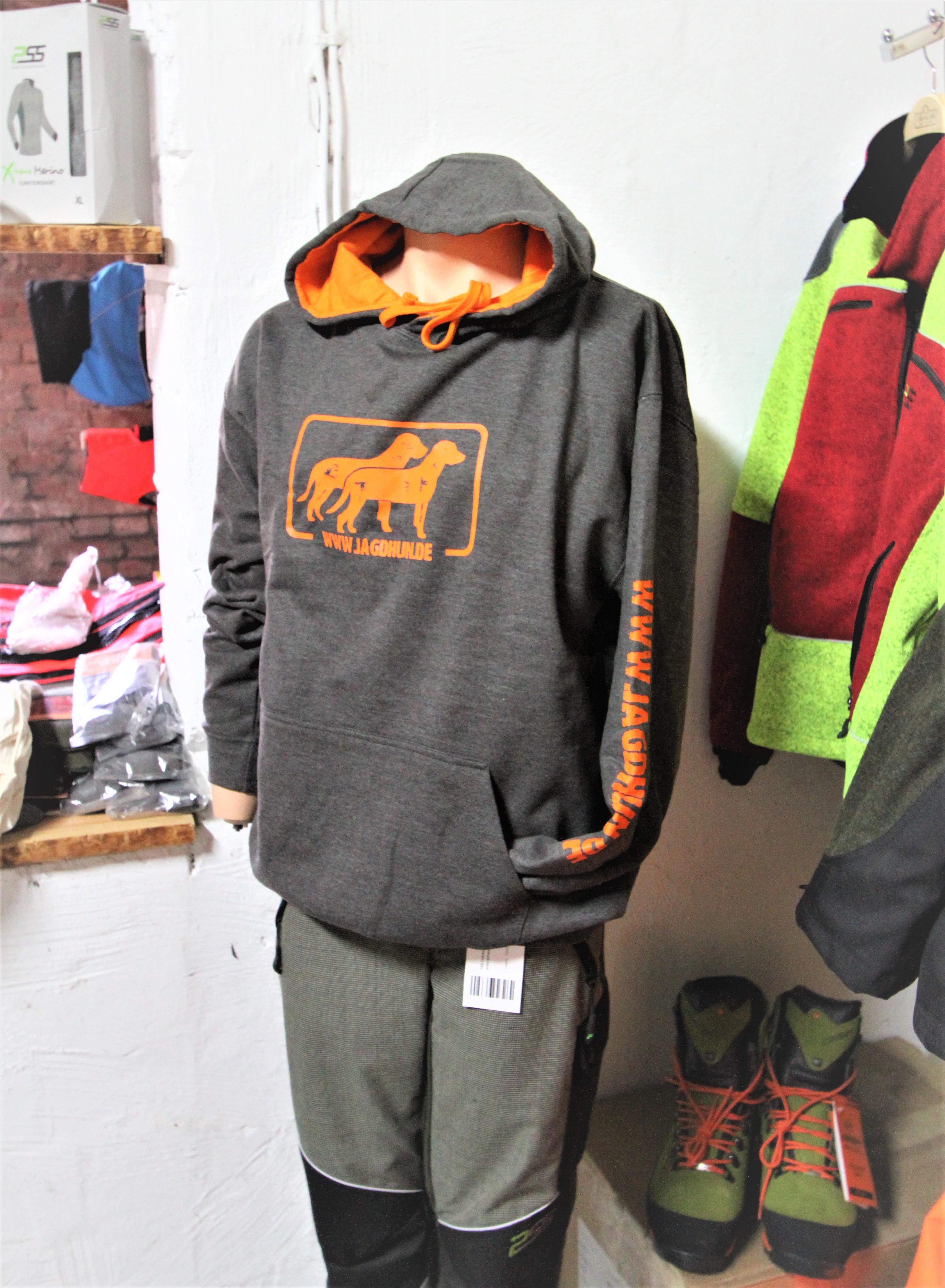 Hoodie  grau/orange
